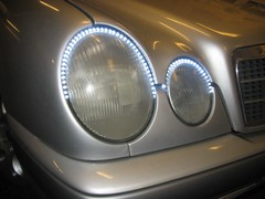 Mercedes W211 24 és 48cm-s LED sorral